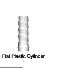 Flat Plastic Cylinder
